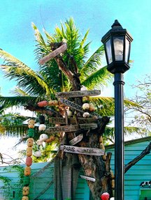 """Which Way? Key West, FL"" 35mm color photograph. © Roy Al Rendahl"