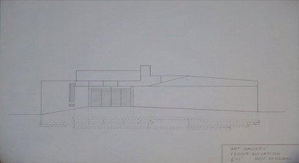 Art Gallery Front Elevation by Roy Rendahl