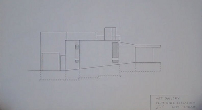 Art Gallery Left Elevation by Roy Rendahl