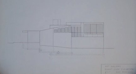 Art Gallery Right Elevation by Roy Rendahl