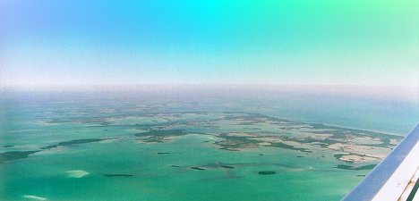 Florida Keys From The Air - photo by Roy Rendahl