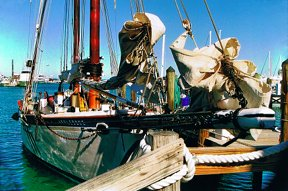 """Schooner Wharf Dock 1, Key West, FL"" 35mm color photograph. © Roy Al Rendahl"