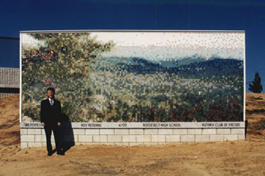 "8'x20' mural ""Wilderness"" by Roy Rendahl in Fresno, California"